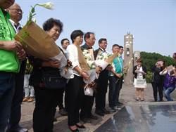 東峰公園二二八追思會 90歲李舜治偕妻到場