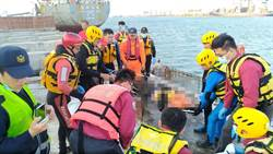 影》沒穿救生衣遭施工架撞落海 碼頭工人卡爛泥溺斃
