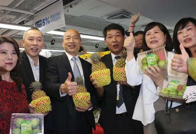 陆官媒:韩国瑜卖菜 启动台湾政坛眾生相