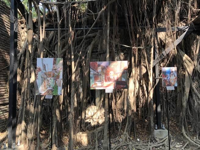 安平樹屋獨特的空間與藝術蝦作品交織獨特的語彙。(曹婷婷翻攝)