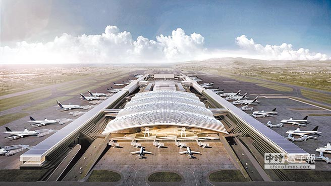 桃園國際機場2018年旅客運量達4653萬人次,再創新高。圖為桃機T3鳥瞰示意圖。(取自桃園國際機場官網)