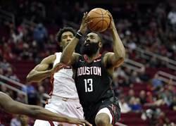 NBA》哈登狂轟58分 領軍火箭上演逆轉秀