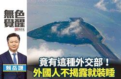 賴岳謙:竟有這種外交部!外國人不揭露就裝睡
