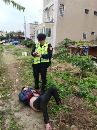 影》竊盜慣犯遇飛毛腿警  狂奔2公里累倒菜園就逮