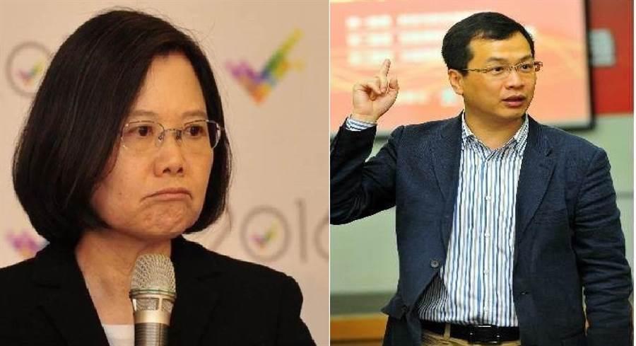 總統蔡英文(左)、台北市議員羅智強(右)。(圖/合成圖,本報資料照)