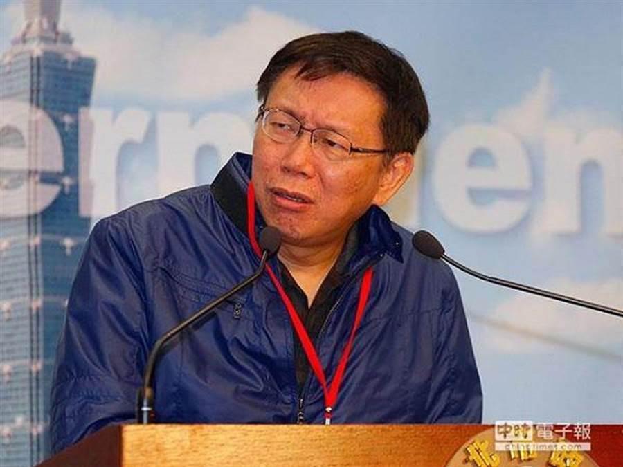 台北市長柯文哲。(圖/中本報系資料照)