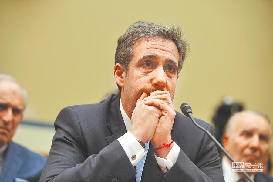 川普的前私人律師柯恩出席眾議院聽證會,大爆川普違法行徑內幕。(法新社)