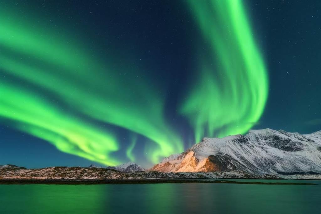 冰島旅遊意外拍到「巨龍」極光 連NASA也好震驚(示意圖/達志影像)