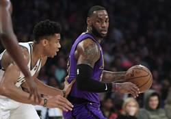 NBA》詹皇對決字母哥 公鹿出奇兵力退湖人