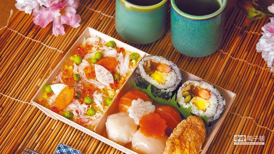 女兒節吃散壽司,有祈福的意涵。(大倉久和飯店提供)