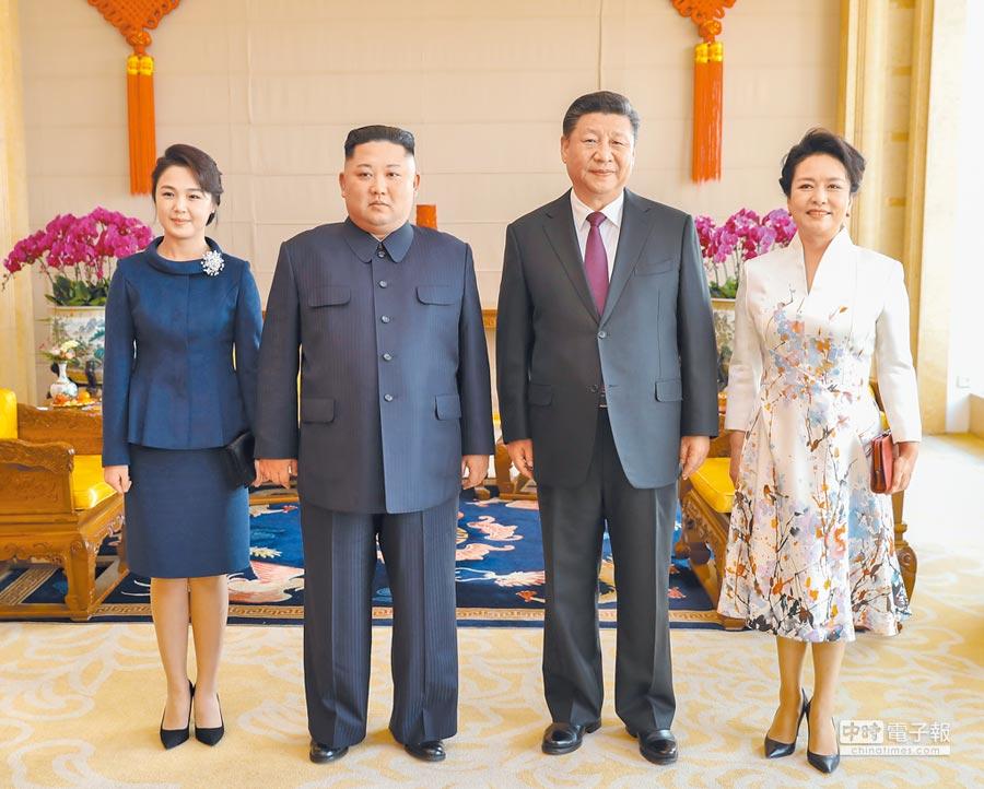 川金二會破局,北韓也更需依賴中國的協助。圖為1月9日,大陸國家主席習近平(右2)與朝鮮勞動黨委員長金正恩(左2)舉行會談。(新華社資料照片)