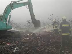 影》燒了一天一夜撲滅 彰化芬園垃圾場不排除縱火