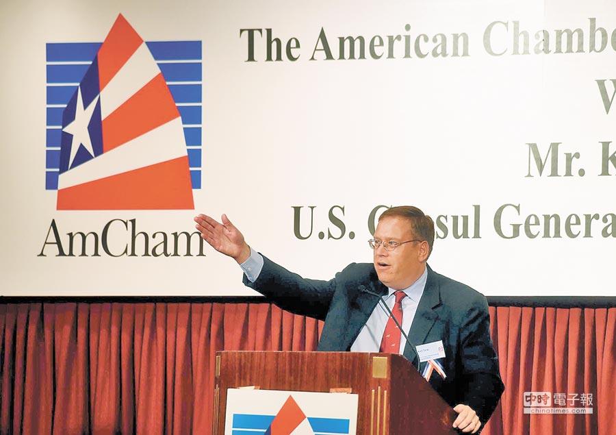 美國駐香港及澳門總領事唐偉康。(中新社資料照片)