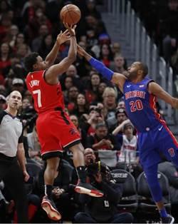 NBA》林書豪先發8投0中 暴龍延長賽不敵活塞