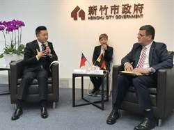 德國經濟辦事處處長林百科拜會新竹 市長林智堅積極招商