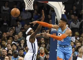 NBA》開打2分鐘吞技術犯規 韋斯布魯克攤手無奈
