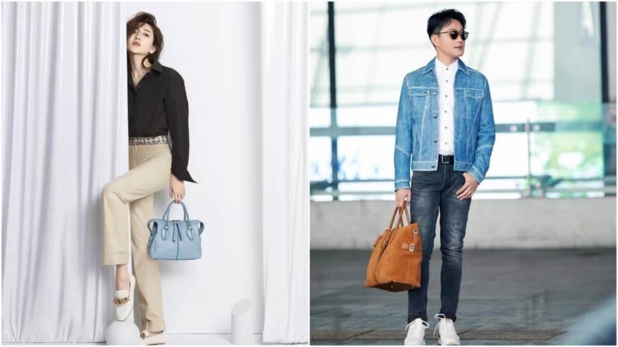 左/江疏影、右/佟大為出席TOD'S 2019秋冬女士時裝大秀。