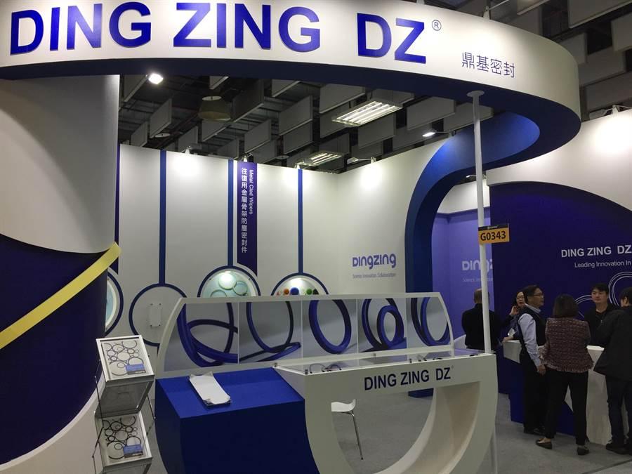 鼎基先進材料公司參加台北國際工具機展,將以密封材料搶攻全球液壓機械配備市場。(圖/鼎基提供)