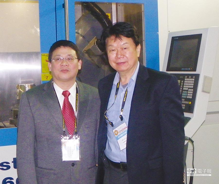 台灣力得衛公司董事長張堅浚(右)與總經理范揚昇(左)。圖/蔡榮昌
