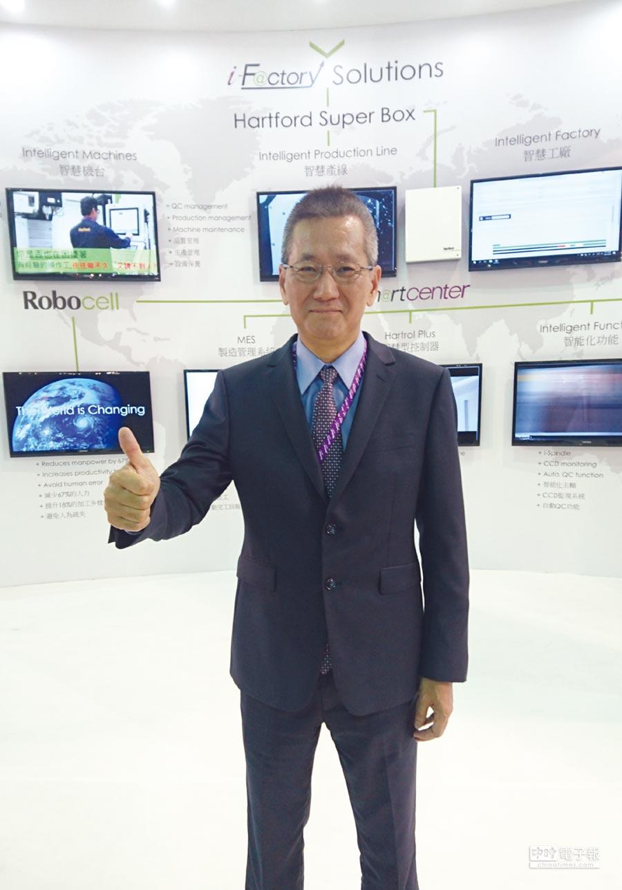 協鴻公司總經理葉新華對參與高值化航太加工設備聯盟成果予以肯定。圖/莊富安