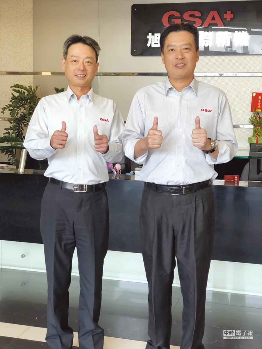 旭陽公司總經理游良祺(右)、副總經理游良弘兄弟倆群策群力共同拚事業。圖/莊富安