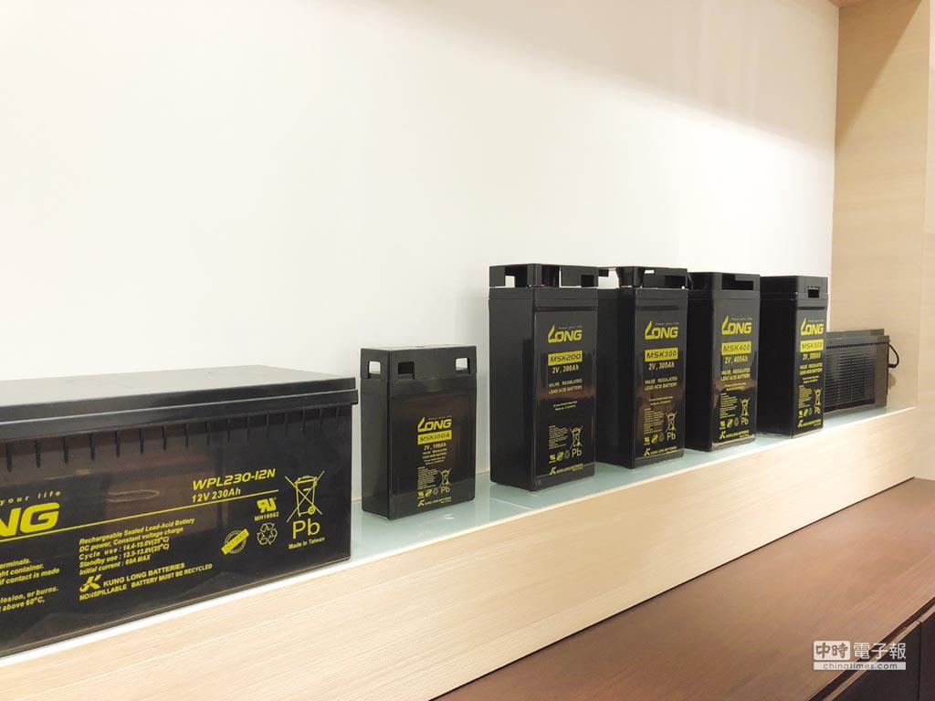 廣隆光電所生產不斷電系統(UPS)電池,目前仍是公司營運主力。圖/劉朱松