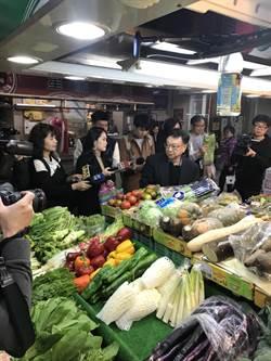 宣明智逛市場採買蔬果 祭1分鐘農藥檢測快篩