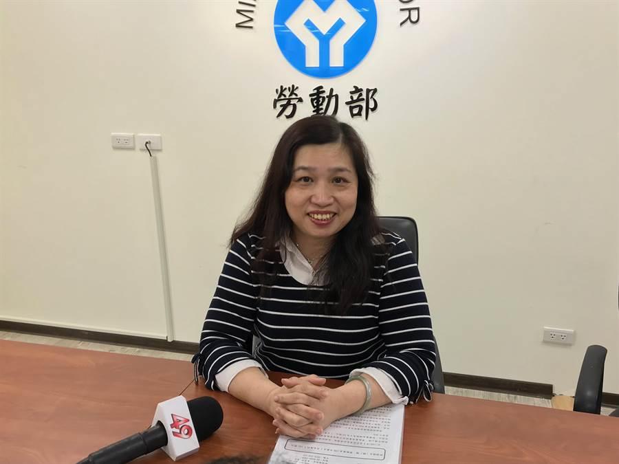 勞動基金運用局副局長劉麗茹表示,勞動基金今年一月獲利1141億元,基金規模破4兆元。(王思慧攝)