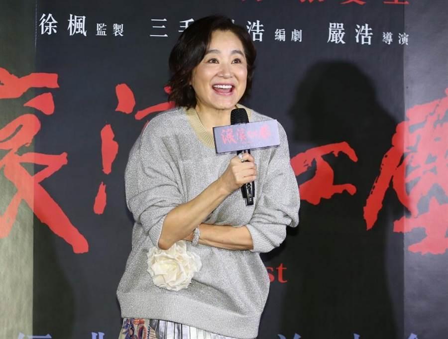 女神林青霞出席電影首映會。(粘耿豪攝)