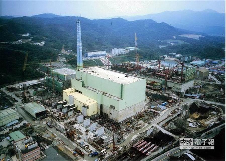 核四電廠空照圖。