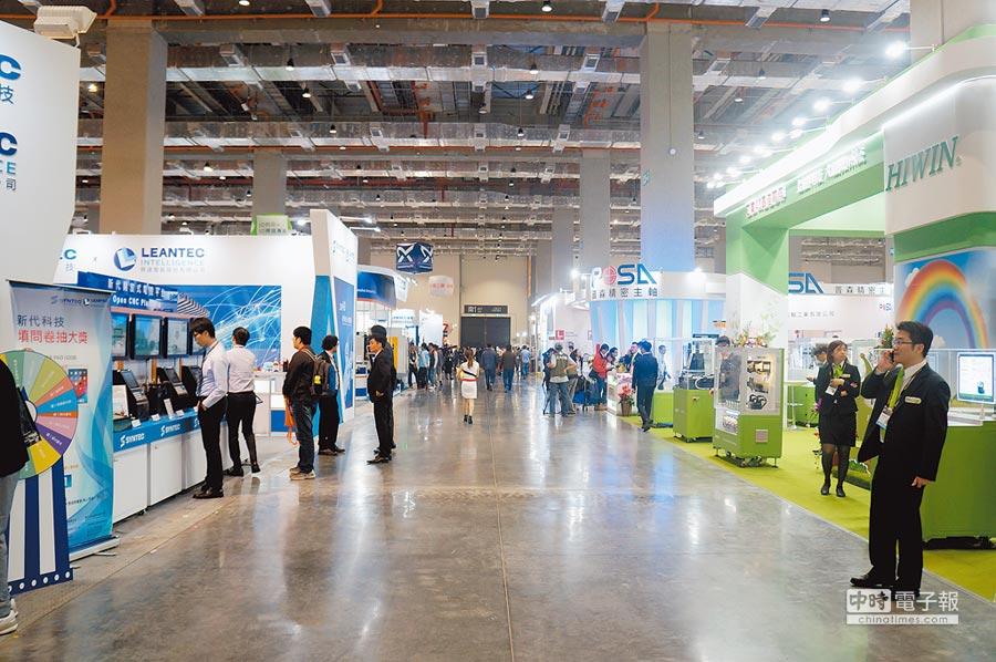 2019年台北國際工具機展於4日至9日登場,本次共1230家國內外廠商參展,成為全球第三大工具機專業展。(記者林汪靜攝)