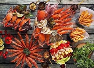Seafood也瘋狂?手抓海鮮吃到飽、牛排、甜點伴美味