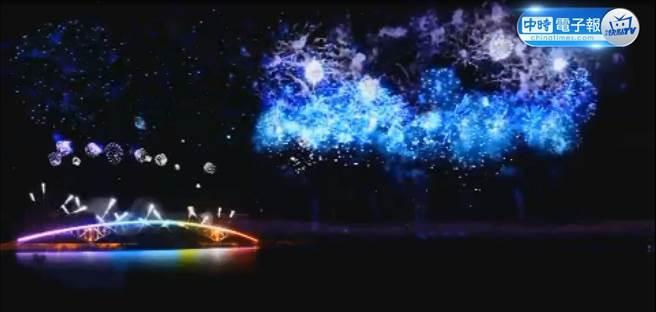 澎湖國際海上花火節水幕和無人機為表演主軸。
