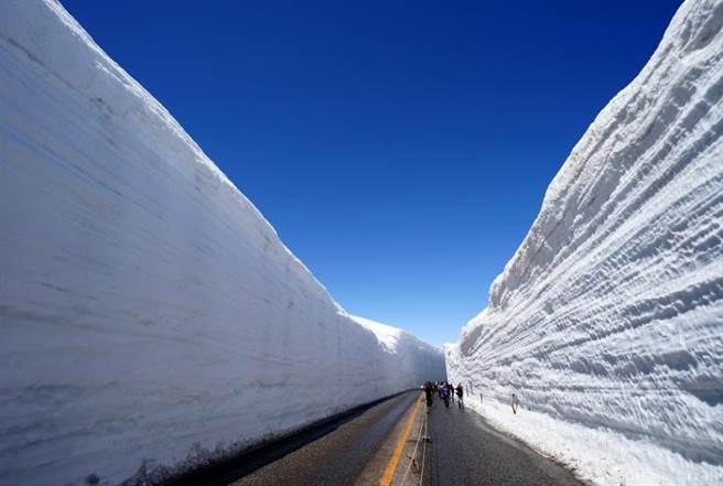 立山黑部雪牆4月中旬開山.。圖:五福提供