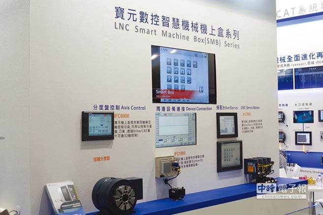 本屆台北工具機展寶元數控展出一系列智慧機械機上盒。圖/黃俊榮