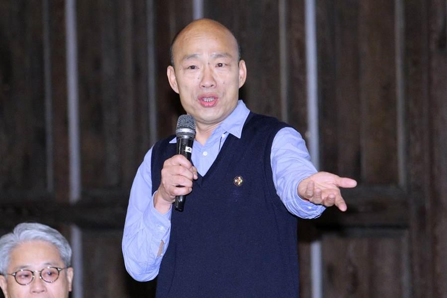 高雄市長韓國瑜6日帶著相關局處首長,北上出席中華民國工商協進會理監事聯席會議,為工商界大老們簡報高雄投資環境並聽取建言。(黃世麒攝)