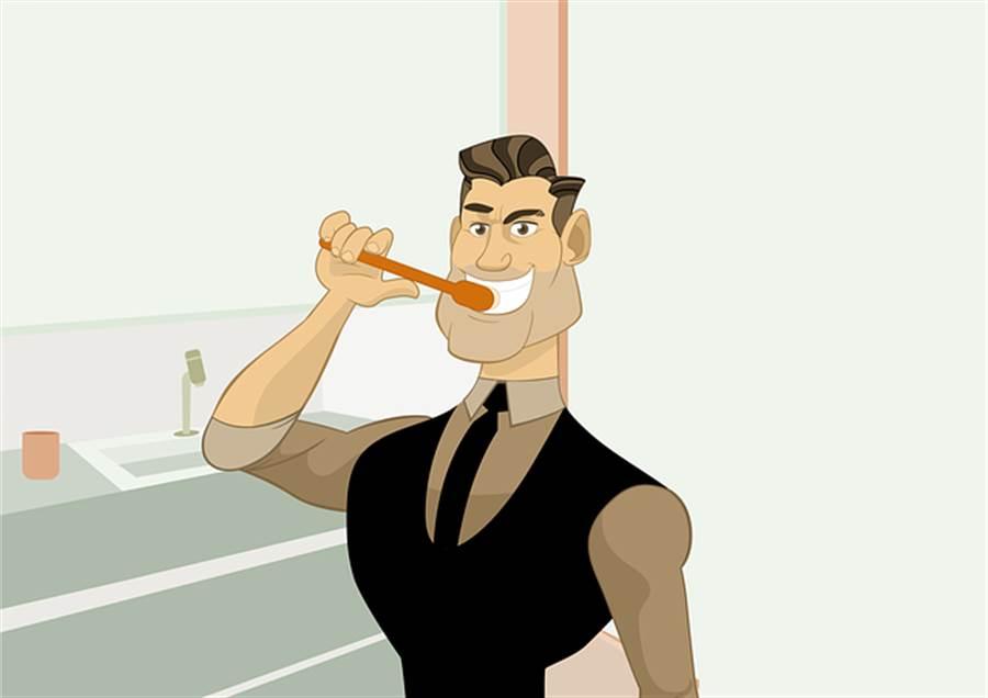 刷牙時,刷毛要碰到牙齦,而且更要用牙線來清潔牙縫,才能真正「刷乾淨」。(圖/pixabay)