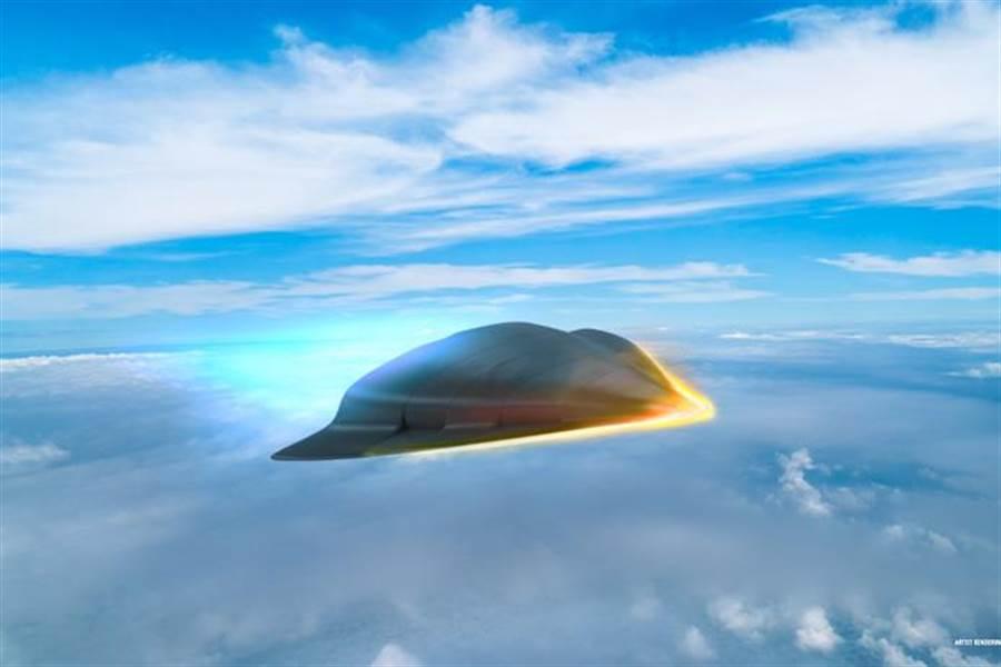 雷神公司在官網發表的5馬赫超高音速武器示意圖。(圖/雷神公司)