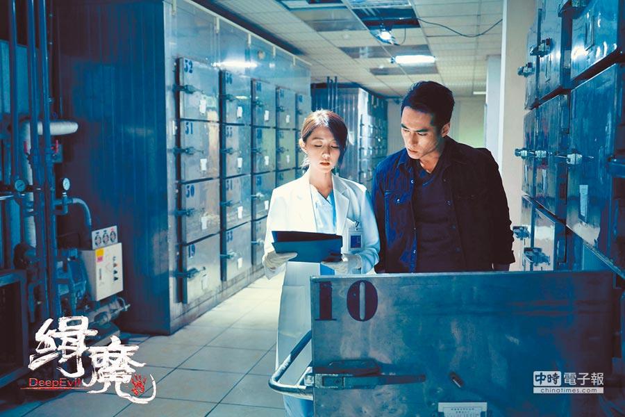 莊凱勛(右)和邵雨薇繼《樓下的房客》後再度合作大尺度驚悚電影《緝魔》。