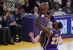 NBA》詹皇超越喬丹總分紀錄 湖人遭金塊砸昏