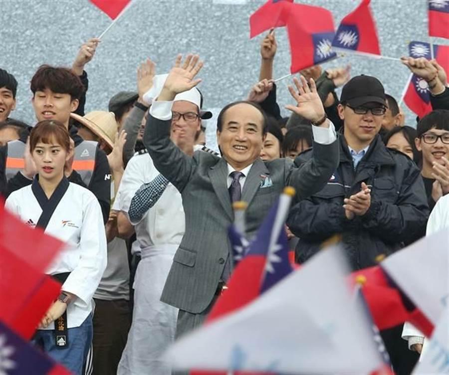 前立法院長王金平7日正式宣布參選2020總統,主軸則定為「讓世界看到台灣、帶台灣走向世界」。(王英豪攝)