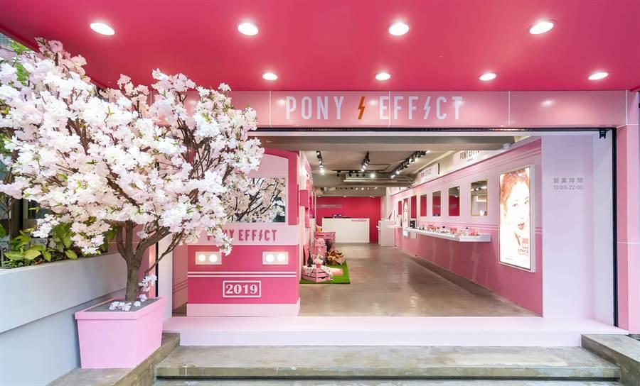PONY EFFECT台北忠孝旗艦店直接100%重現道地韓國賞花行程。(圖/品牌提供)