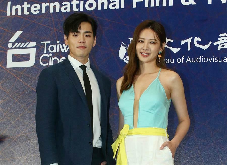 安心亞、禾浩辰出席香港國際影視展行前記者會。(粘耿豪攝)