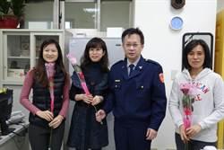 慶祝38婦女節 新店警分局送玫瑰表心意