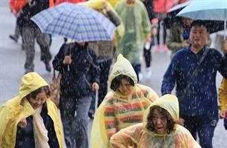 影》冷風大雨襲北台 明天雨勢更猛 下周一才好轉
