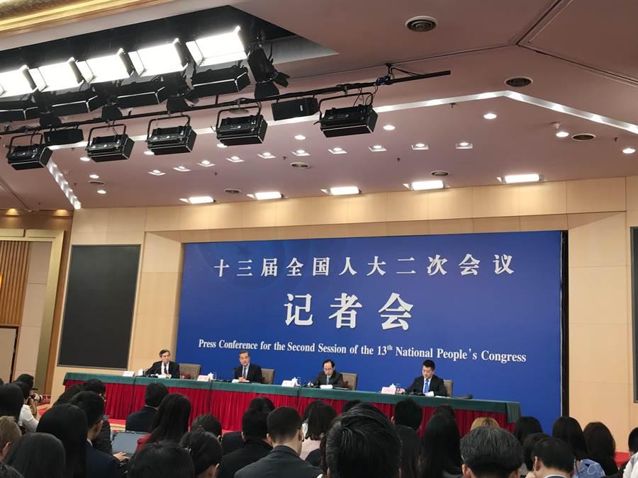 大陸外長王毅回答孟晚舟案。(張國威攝)