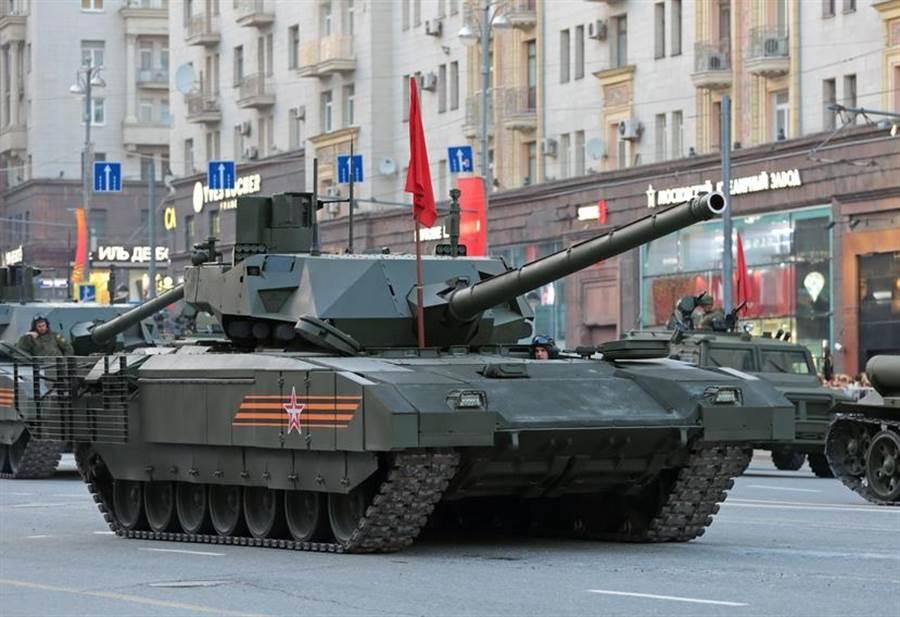 俄羅斯T-14「阿瑪塔」主戰坦克的資料照。(達志影像/Shutterstock)