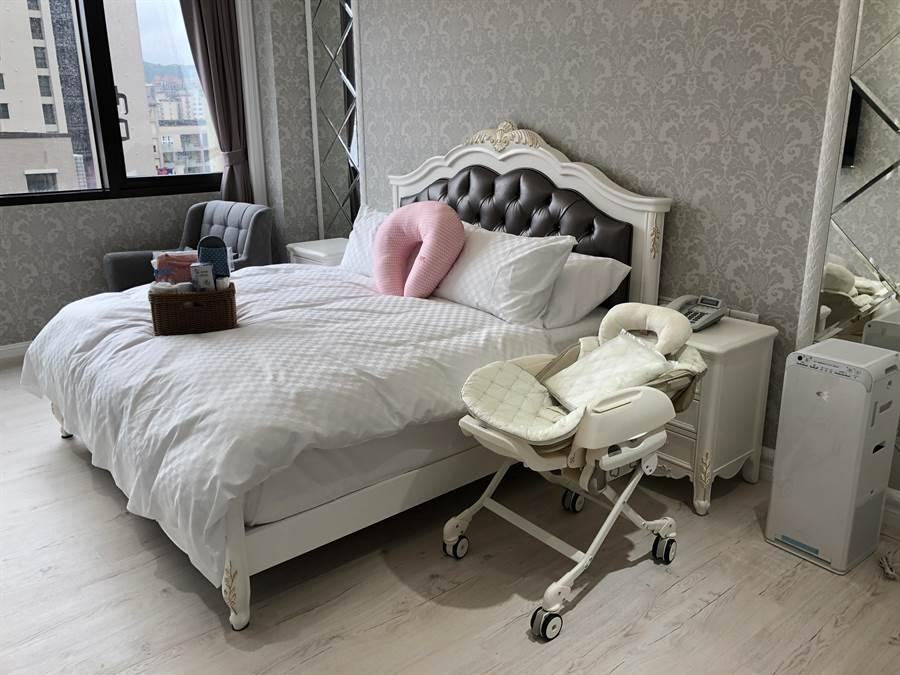 滿越圓產後護理之家有30間房間,間間風格都不同。(蔡依珍攝)