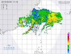 對流旺盛 小心「雨彈」轟彰化以南