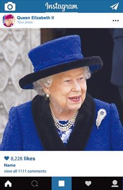 英國女王IG首發文 吸23萬粉絲按讚